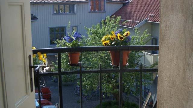Fransk balkong på Lilla Hotellet i Alingsås