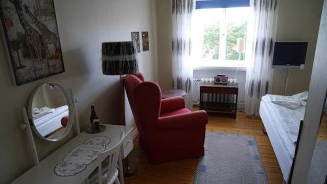 Hotellrum på Lilla Hotellet i Alingsås